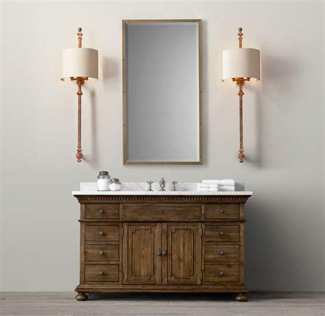 st vanity sink traditional bathroom vanities and sink consoles by restoration hardware