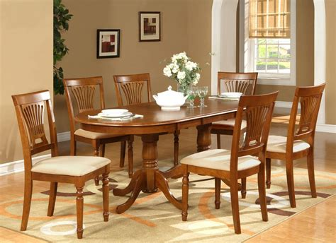 7pc Oval Dining Room Set Table 42
