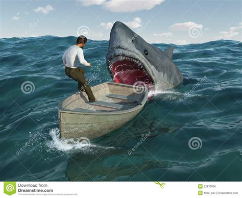 Soul Boat Videos by El Tibur 243 N Ataca Al Hombre En Un Barco Imagen De Archivo