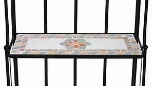 Regal Schwarz Metall : regal gartenregal mit blumen mosaik und metall schwarz ~ Markanthonyermac.com Haus und Dekorationen