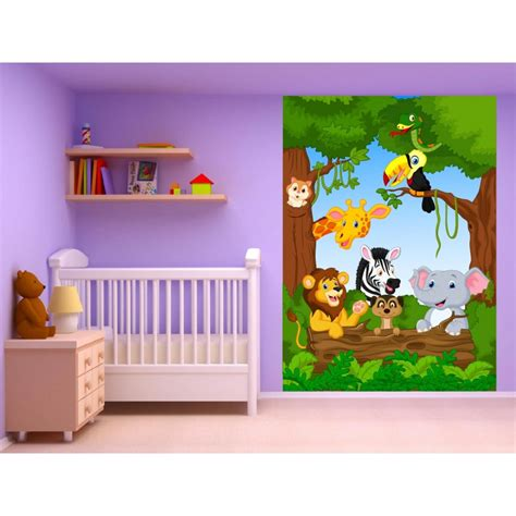 stickers muraux enfant g 233 ant animaux jungle 15220 stickers muraux enfant