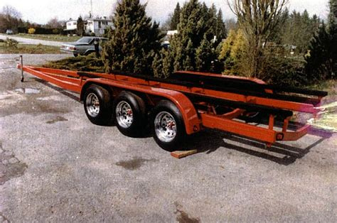 Boat Trailer Triple Axle Used by Boat Trailers