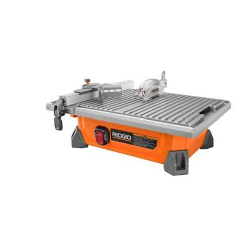 ridgid 7 in site tile saw r4020 the home depot