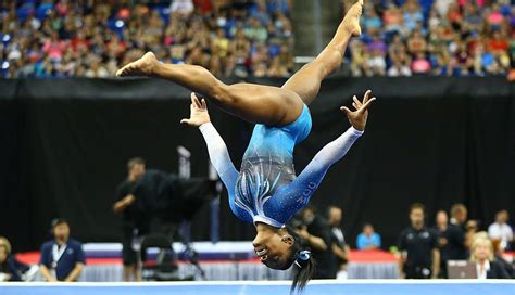 gymnast biles won all around title with