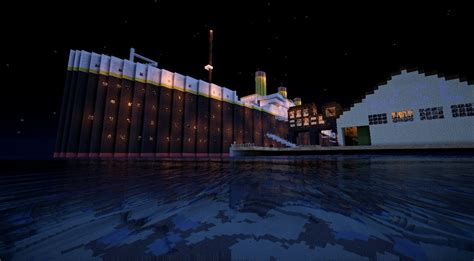 titanic departure travel and sinking minecraft