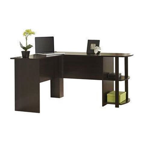 ameriwood office l shaped desk with shelf best price