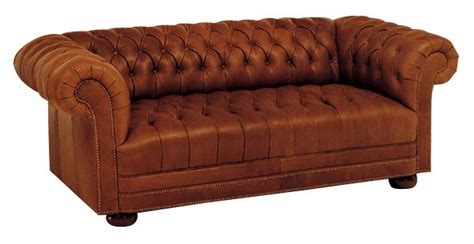 Large Tufted Leather Chesterfield Sofa