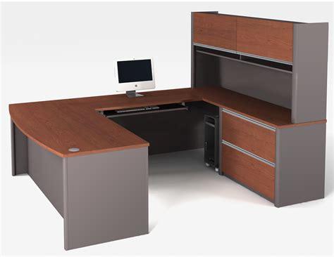 bestar connexion u shaped desk and hutch