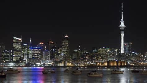 file view of the lit city of auckland from northcote point auckland 0365 jpg