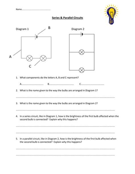Series & Parallel Circuits Worksheet By Edp10ch Teaching