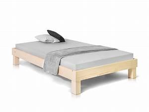 Betten Ohne Kopfteil : pumba massivholzbett ohne kopfteil fichte 140 x 200 cm natur ~ Markanthonyermac.com Haus und Dekorationen