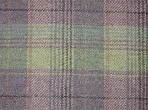 curtain fabric highland wool tartan check plaid tweed upholstery ebay