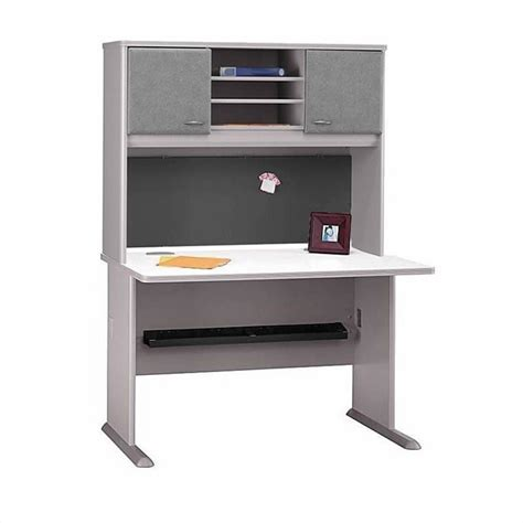 bush business a series corner desk in white spectrum and pewter bsa034 145