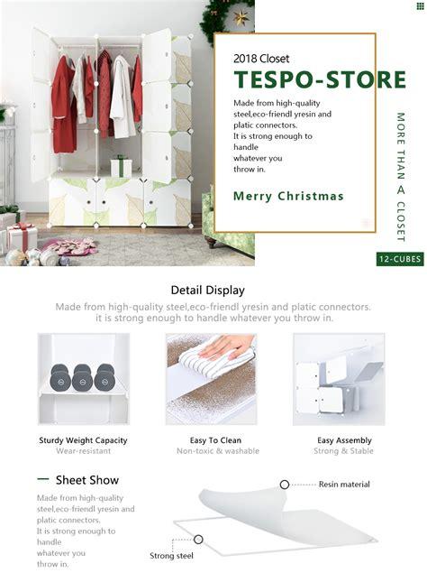 Amazoncom Tespo Portable Clothes Closet Wardrobe, Diy