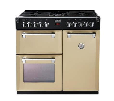 buy stoves richmond 900dft dual fuel range cooker chagne free delivery currys
