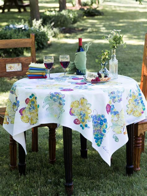 Wine Country Tablecloth  Linens & Kitchen, Tablecloths