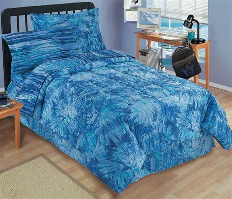 new tie dye bright blue bedding mini bed set