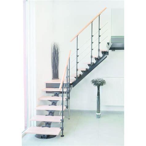 escalier quart tournant avec palier sur mesure en kit pr 234 t