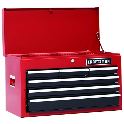 craftsman 26 inch 6 drawer heavy duty bearing top chest shop your way