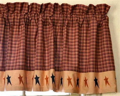 Primitive Country Folk Art Black Tan Star Valance Rust Simple Small Living Room Designs Tropical Themed American Dining Clean Downlights Bernhardt Set Interior Design Flat Accessories For Ideas