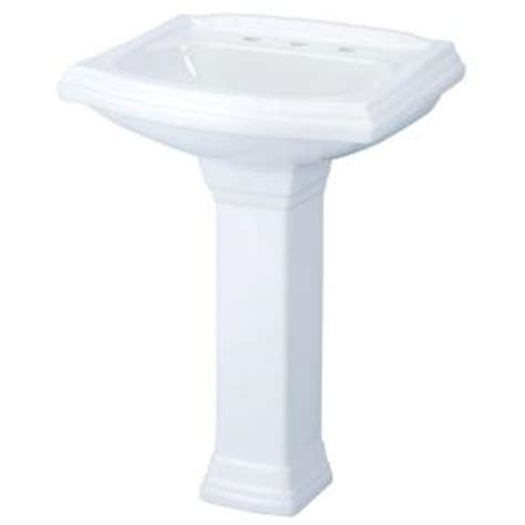 gerber allerton pedestal combo bathroom sink in white