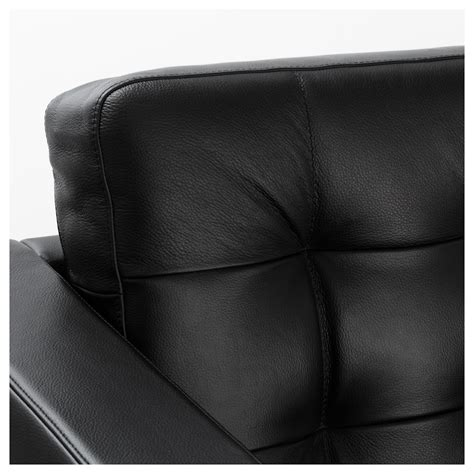 landskrona two seat sofa and chaise longue grann bomstad black metal ikea
