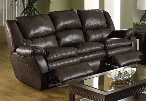 catnapper coffee top grain leather allegro reclining sofa set