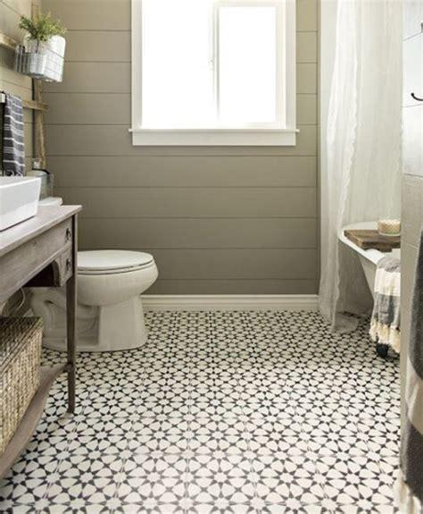 patterned floor tiles in vintage bathroom decorations flooring ideas floor design trends