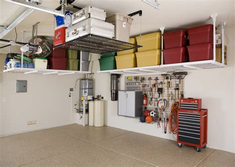 garage organizers overhead storage racks slatwall wall