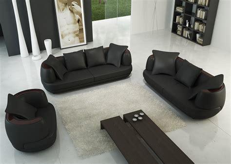 deco in ensemble canape 3 2 1 places noir en cuir ryga ryga 3 2 1 noir