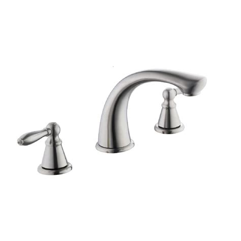 glacier bay 2500 series 2 handle deck mount tub faucet in brushed nickel 67416 3604 the