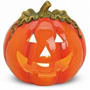 Gruselige Halloween Deko : halloween k rbis windlicht gruselige deko teelicht laterne 18x17 cm aus ton ebay ~ Markanthonyermac.com Haus und Dekorationen