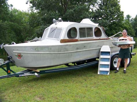 Aluminium Boot Cabin by Aluminum Vintage Aluminum Boats