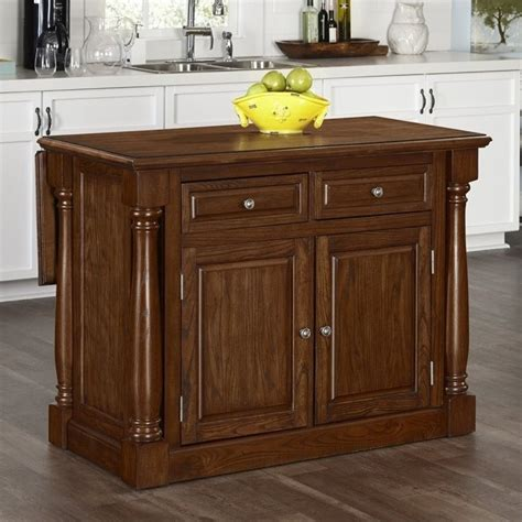 Home Styles Monarch Kitchen Island With Wood Top Oak Carts