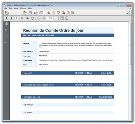 exemple ordre du jour comite d entreprise document