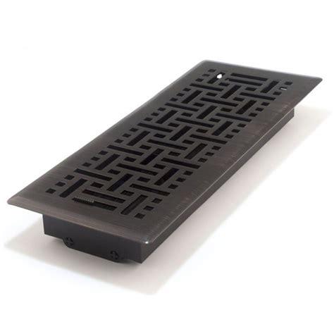 rubbed bronze wicker register 100x300mm floor vents