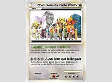 Pokémon Champions du Kanto Attaque combinée Ma carte