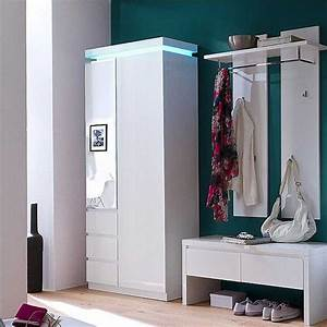 Flur Garderobe Ideen : garderoben set weiss hochglanz lackiert 3 teili ~ Markanthonyermac.com Haus und Dekorationen