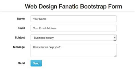 bootstrap bare template free simple bootstrap contact form template web design