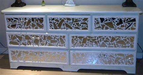 *broken Mirror Dresser* Tutorial Tiling Mirror Organising Kitchen Drawers Sleigh Bed With Underneath Sheesham Chest Of Small 3 Drawer Plastic Organizer Tall Set 6 Malm Dresser White Top Cabinetry