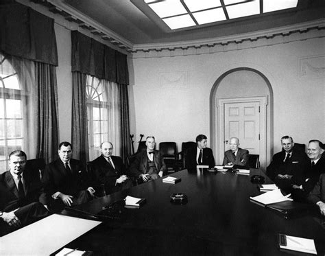 ar6279 f president elect f kennedy and designated cabinet members meet with president