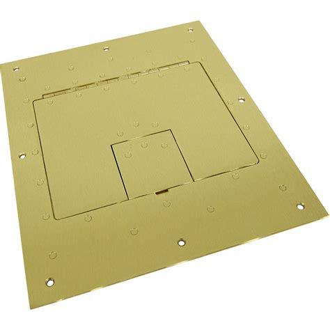 fsr flat cover for fl 500p floor box brass fl 500p brs b h