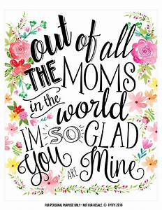 Creative Mother's Day Gifts- Tags and Wall Art Included ...