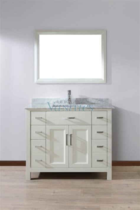 42 inch single sink bathroom vanity with marble top in white uvabxkawh42