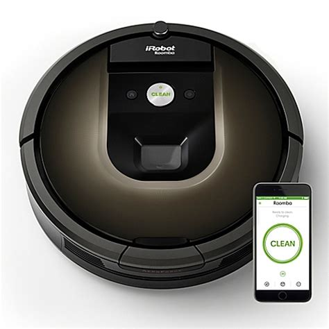 irobot 174 roomba 174 980 vacuum cleaning robot bed bath beyond