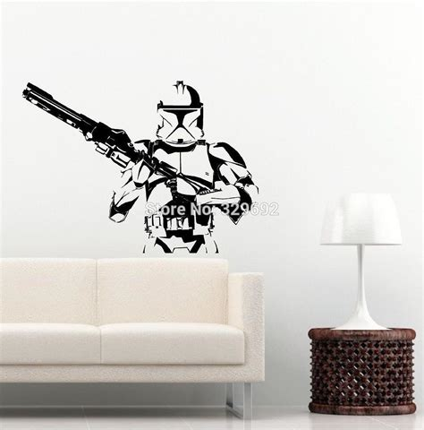 wars trooper wall vinyl decal iconic kid room sticker decor diy home decoration