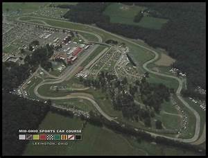 Aerial view of the Mid-Ohio Sports Car Course located in ...