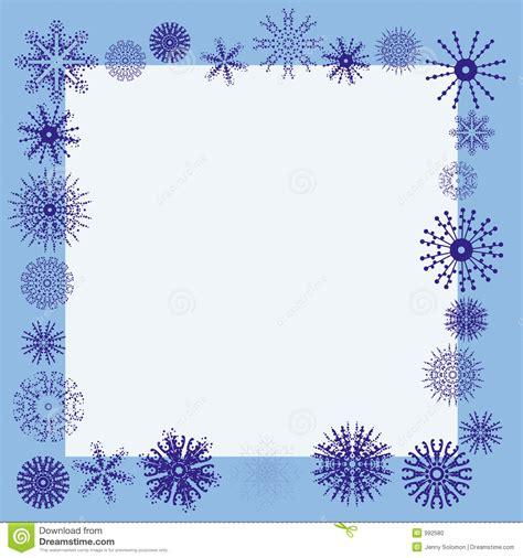 cadre de flocon de neige de l hiver illustration de vecteur image 992580