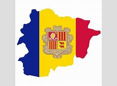 FLAG MAP OF ANDORRA Download at Vectorportal