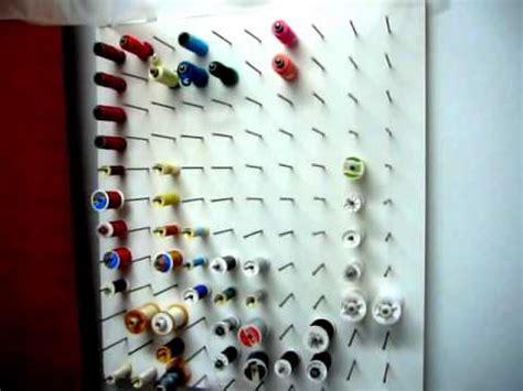 rangement des bobines de fils
